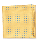 POCKET SQUARES - DOTTED DOTS - YELLOW