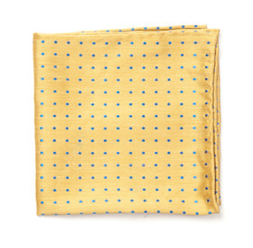 Yellow Dotted Dots pocket square