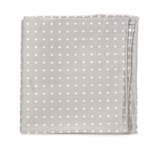 dotted dots silver pocket square