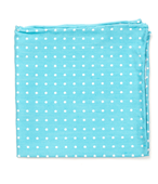 Pocket Squares - Dotted Dots - Turquoise