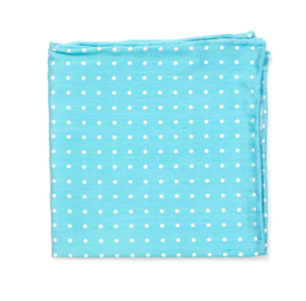 Dotted Dots Turquoise pocket square