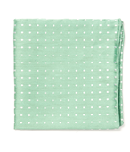 Pocket Squares - Dotted Dots - Mint