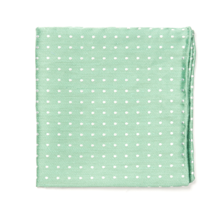 Dotted Dots Mint Pocket Square