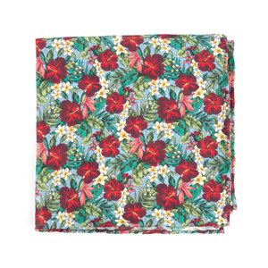 tropic fever light blue pocket square