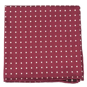 dotted dots burgundy pocket square
