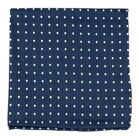 Navy Dotted Dots pocket square