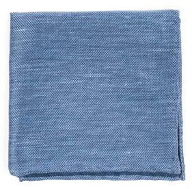 Slate Blue Festival Textured Solid pocket square