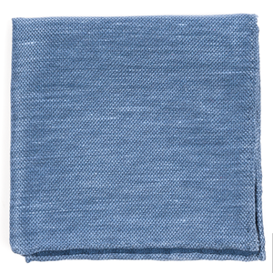 festival textured solid slate blue pocket square