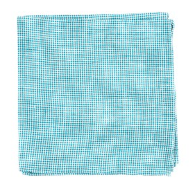 Green Teal Verse Check pocket square