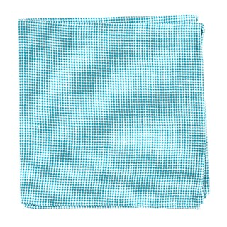 Verse Check Green Teal Pocket Square