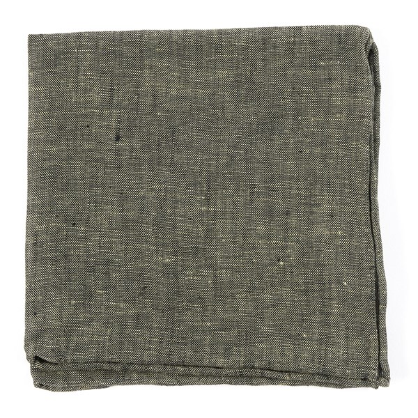 Taupe Freehand Solid Pocket Square