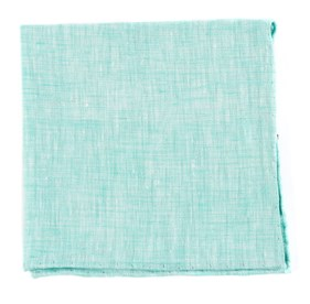 Spearmint Freehand Solid pocket square