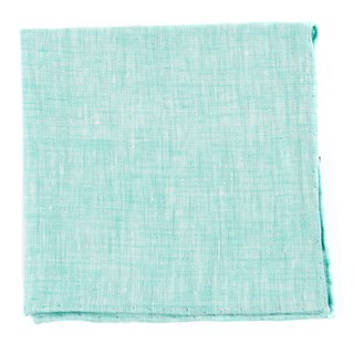 Freehand Solid Spearmint Pocket Square