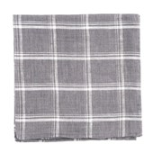 Pocket Squares - Jet Plaid - Grey
