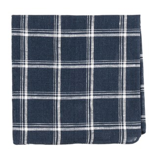 jet plaid navy pocket square