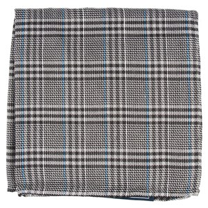 columbus plaid grey pocket square