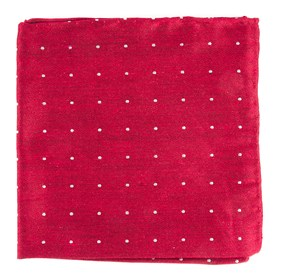 Red Bulletin Dot pocket square