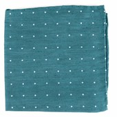 Pocket Squares - Bulletin Dot - Teal