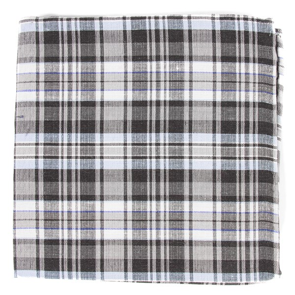 Grey Rnr Plaid Pocket Square
