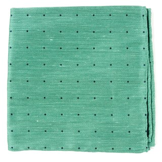 Bulletin Dot Mint Pocket Square