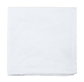 Textured Linen Solid White pocket square