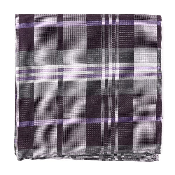 Eggplant Crystal Wave Plaid Pocket Square