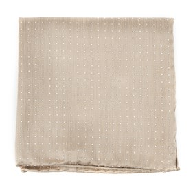 Champagne Destination Dots pocket square