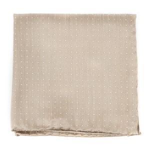 destination dots champagne pocket square