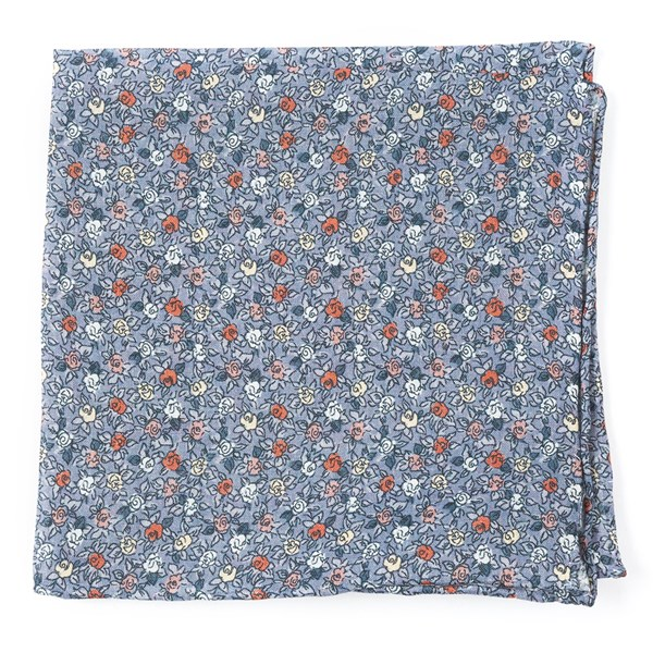 Grey Floral Buzz Pocket Square