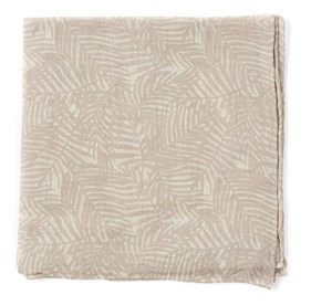 Khaki Palm Leaves pocket square
