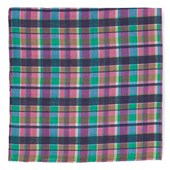 Pocket Squares - Ultraviolet Plaid - Hot Pink