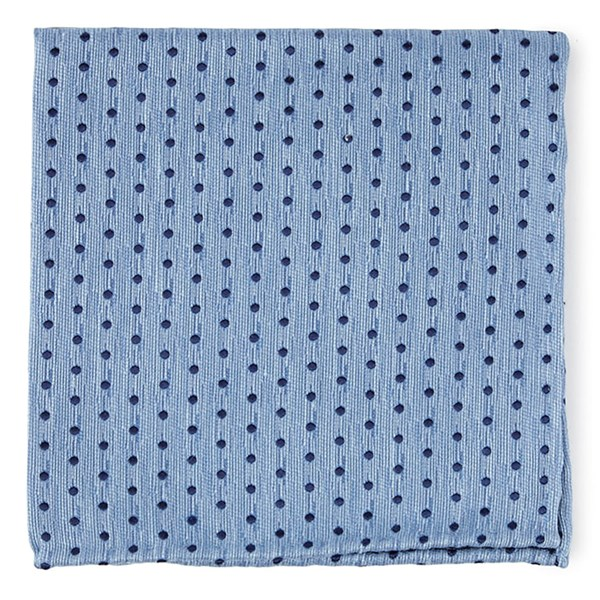 Light Blue Shock Dots Pocket Square