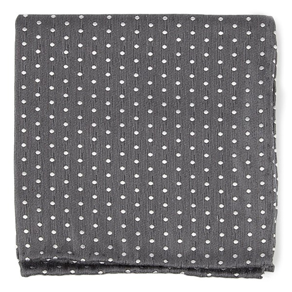 Charcoal Shock Dots Pocket Square