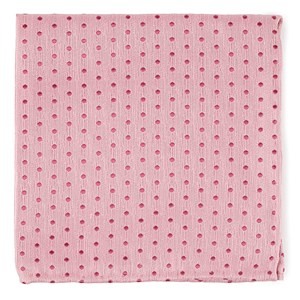 shock dots baby pink pocket square