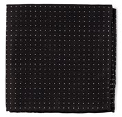 POCKET SQUARES - RIVINGTON DOTS - BLACK