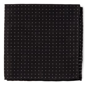 Black Rivington Dots pocket square