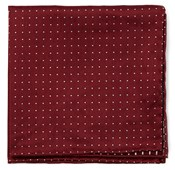 POCKET SQUARES - RIVINGTON DOTS - BURGUNDY