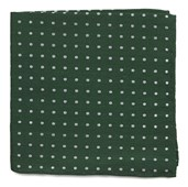 Pocket Squares - Dotted Dots - Clover Green