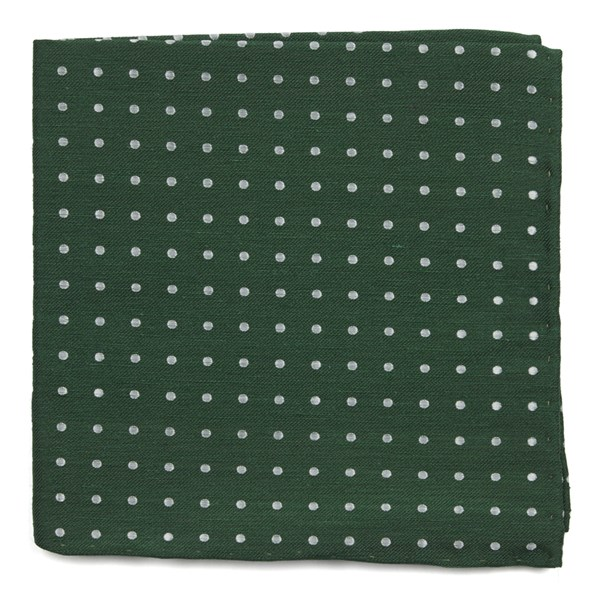 Clover Green Dotted Dots Pocket Square