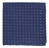 Pocket Squares - Dotted Dots - Classic Blue