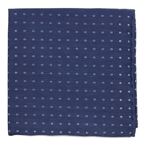 Classic Blue Dotted Dots Pocket Square