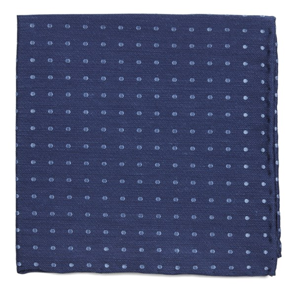 Dotted Dots Classic Blue Pocket Square