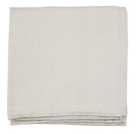 Light Champagne Bulletin Dot pocket square