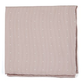 Blush Pink Bulletin Dot pocket square