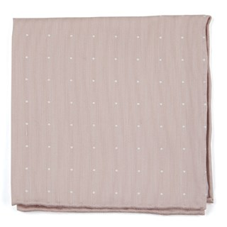 bulletin dot blush pink pocket square