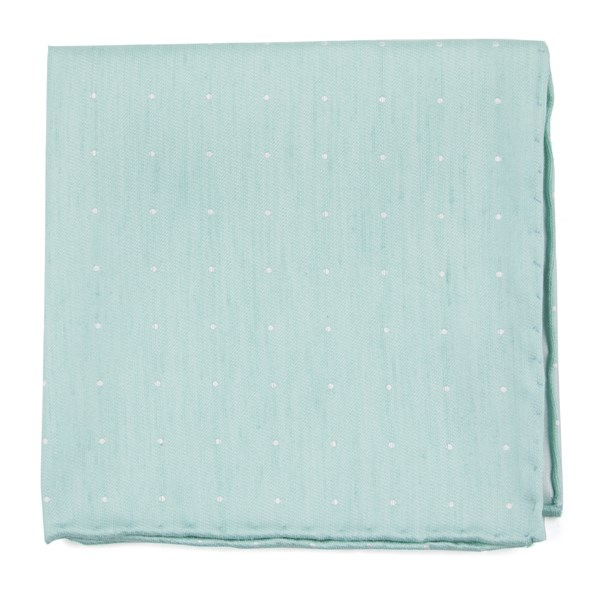 Spearmint Bulletin Dot Pocket Square