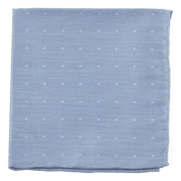 Slate Blue Bulletin Dot Pocket Square