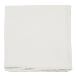 Linen Row Ivory Pocket Square