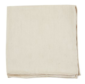 Light Champagne Linen Row pocket square
