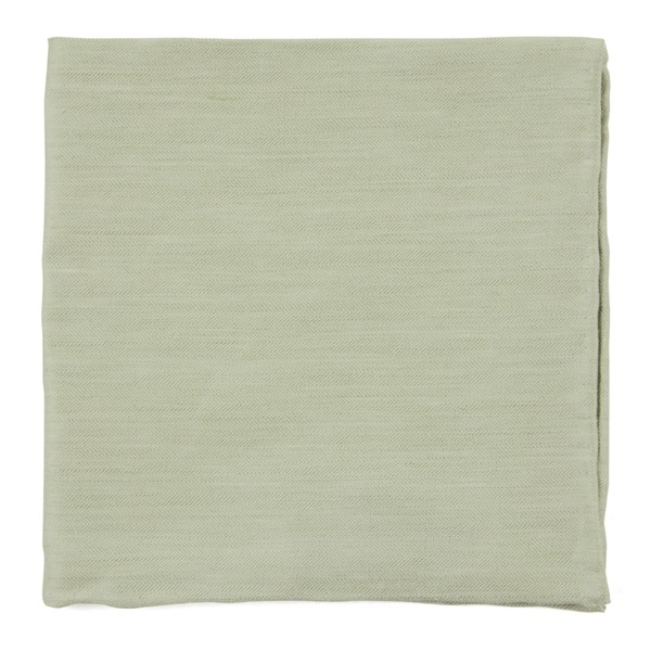 Sage Green Linen Row Pocket Square